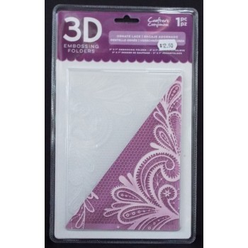 3D Embossing Folder Ornate Lace
