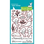 Lawn Fawn Mermaid for You stamp set and Mermaid for You die set