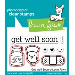 Lawn Fawn Get Well Soon Stamps and Get Well Soon Dies