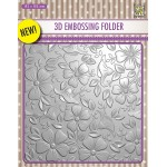 3D embossing folder background flowers 3