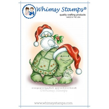 Whimsy Stamps Christmas Turtle Dove