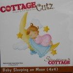 Cottage Cutz Baby Sleeping on moon