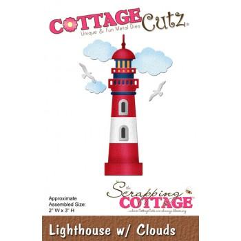 CC Lighthouse w/Clouds