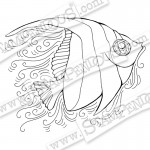 Cling Pen Pattern Angel Fish