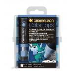 Chameleon Color Tops Blue