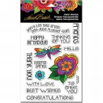 Stampendous Laurel Burch Flower Sentiments